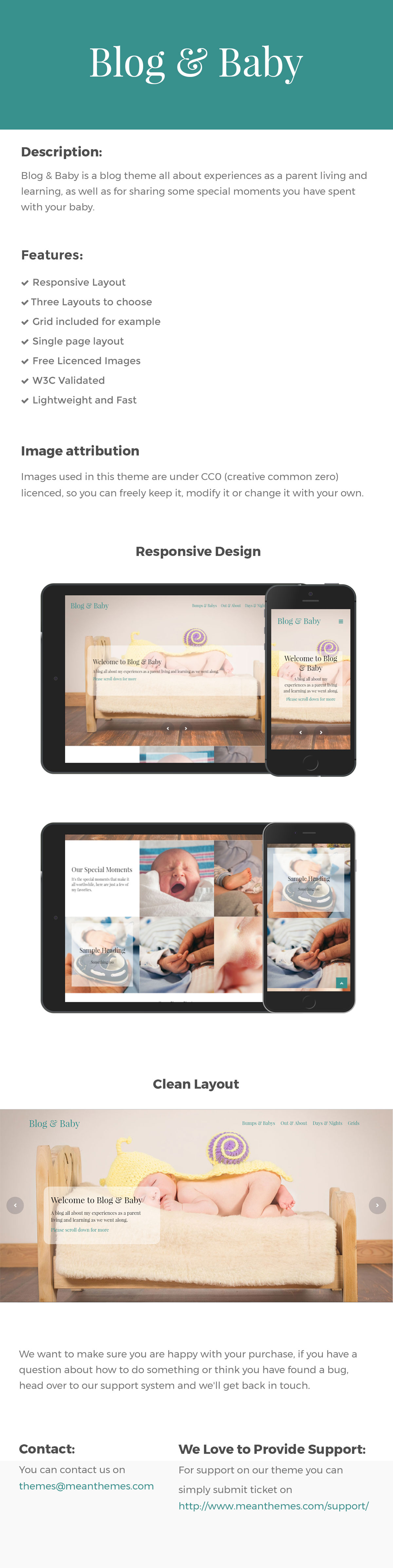 Blog & Baby - Responsive HTML Template For Baby Blogs - 1