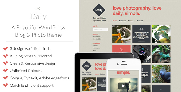 daily Nerdy: A WordPress Blog Theme (Personal)