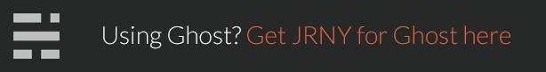 JRNY: A Gorgeous & Responsive WordPress Blog Theme