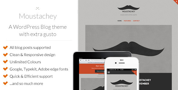 moustachey Nerdy: A WordPress Blog Theme (Personal)