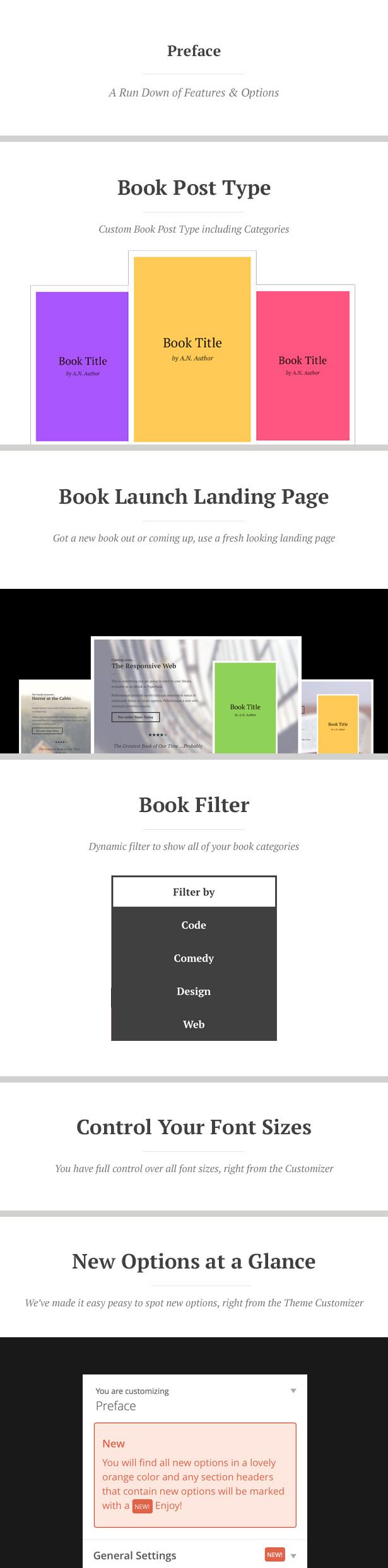WordPress theme Preface: A WordPress Theme for Authors (Marketing)