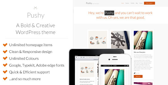 pushy Nerdy: A WordPress Blog Theme (Personal)