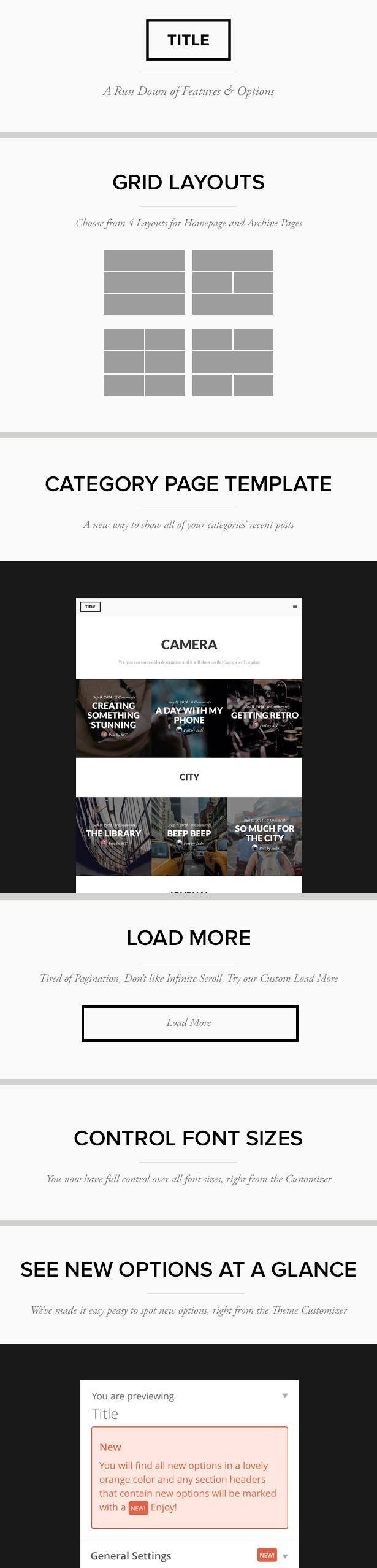 WordPress theme Title: Create Something Stunning (Personal)