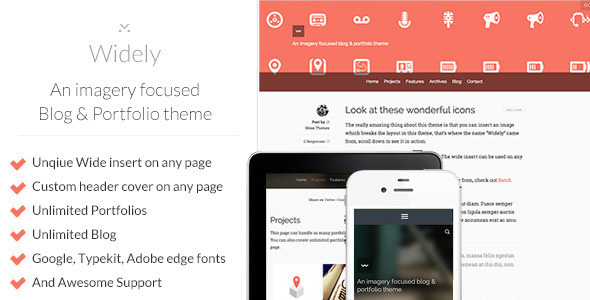 widely Nerdy: A WordPress Blog Theme (Personal)