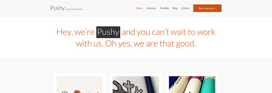 Pushy – A Bold & Creative theme