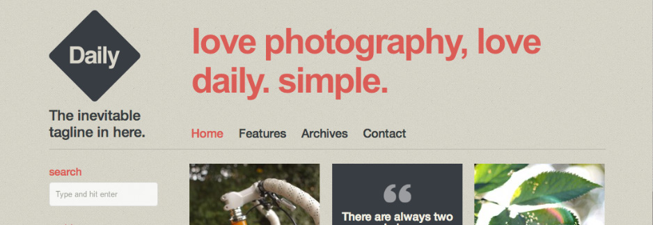 Daily – A Beautiful Blog & Photo theme