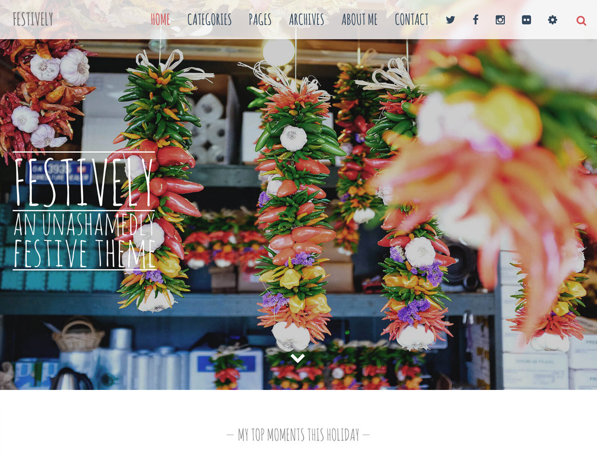 Meet Festively – An Unashamedly Festive Blog Theme