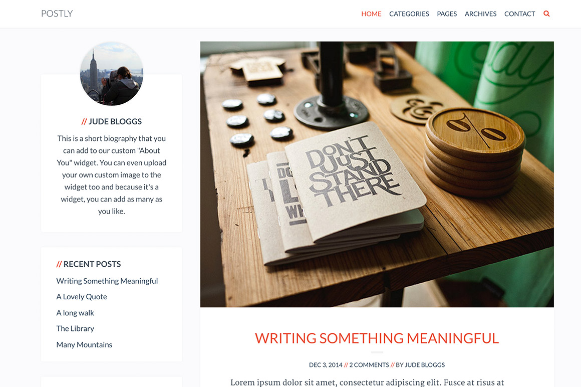 Meet Postly: A Theme that loves your posts