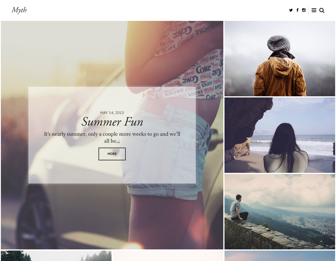 Meet Myth – An Elegant WordPress Blog Theme for Storytelling